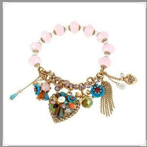 Must See! BETSEY JOHNSON*Weave & Sew Charm Bracele